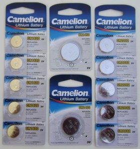 Camelion hodinkové, lithiové a speciální baterie